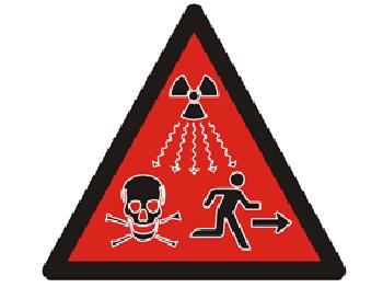 Biển cảnh báo phóng xạ nguy hiểm