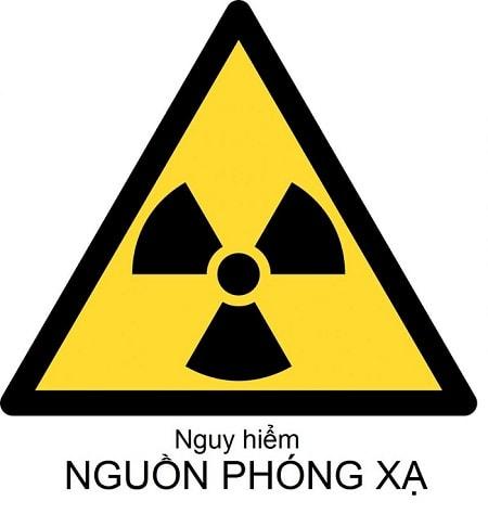 Mẫu biển cảnh báo phóng xạ